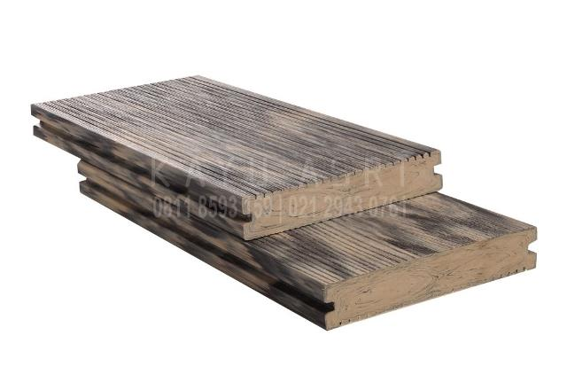 Produk Decking WPC WOOD Wood Grain Grey